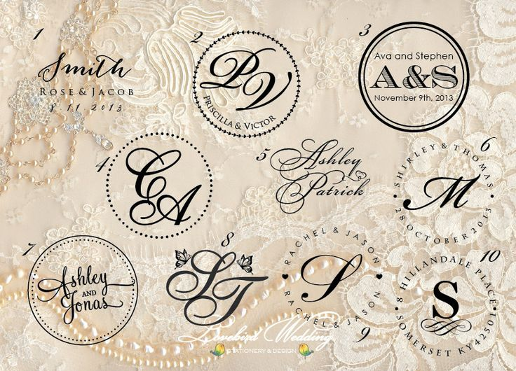 Wedding embossing seal, wedding monogram embosser by LovebirdDesign on Etsy https://www.etsy.com/listing/130297279/wedding-embossing-seal-wedding-monogram