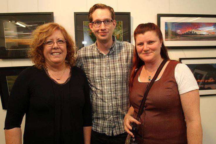 Rhonda Lehwess, Sean Gallagher and Katarzyna Rogers at the TAFE Illawarra photography exhibition launch.