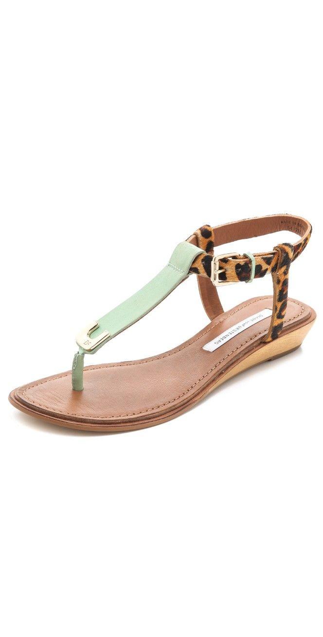 Diane von Furstenberg Dion Demi Wedge Sandals   SHOPBOP