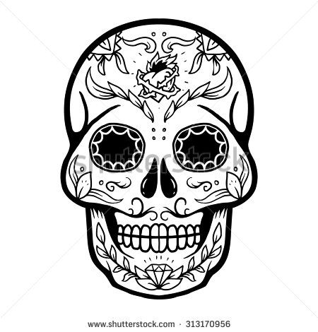Vector illustration of Skull the Day of the Death