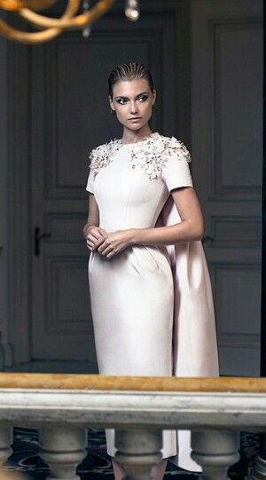 Miss Millionairess .. Ralph and Russo elegant white dressing