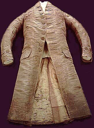 George Washington's Suit.  18th Century. Worn by George Washington on the day of his inauguration, April 30, 1789. It was not worn during the ceremonies, but sometime during that day.
