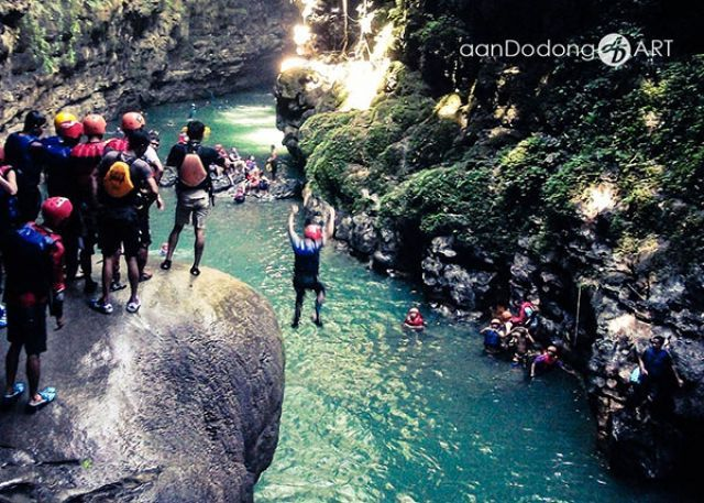 Body Rafting Asik di Green Canyon Pangandaran