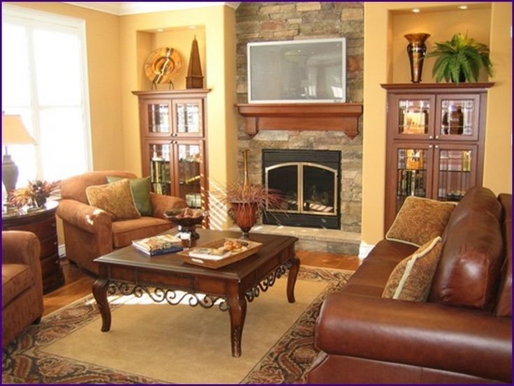 17 best images about cognac leather on pinterest couch - Living room design with leather sofa ...