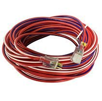 Yellow Jacket 100 ft Red, White and Blue Outdoor Extension Cord w/ Lighted Ends