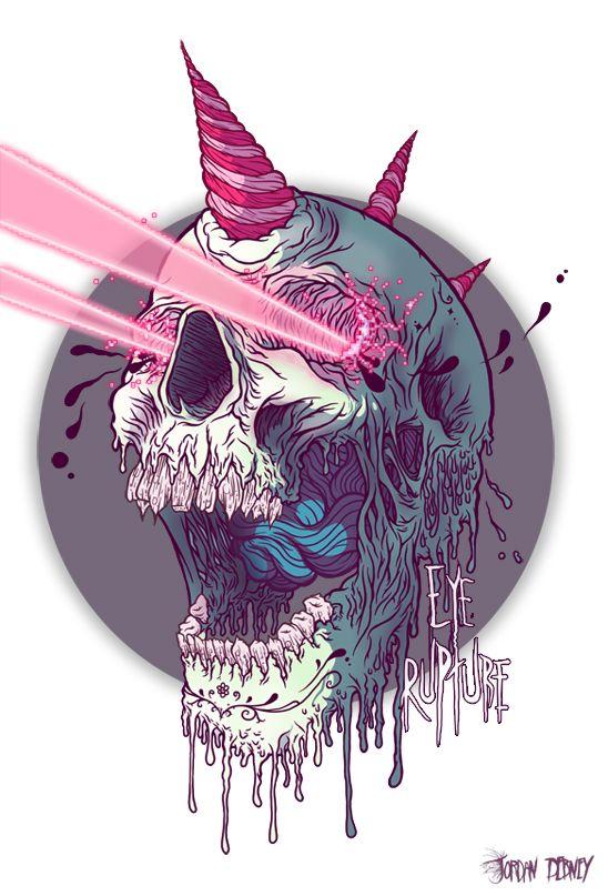 Hardcore Illustrations by Eye Rupture   Abduzeedo   Graphic Design Inspiration and Photoshop Tutorials