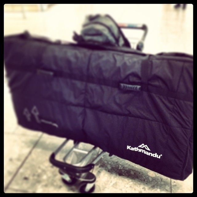 "@andreiburton's photo: ""Check out my new bike bag from #Kathmandu! It's awesome! Two bikes, tools, shoes, everything, and only 26kg!!! Best designed bag I've ever seen! Big thanks for sorting me out with a few of these for the busy year ahead!"""