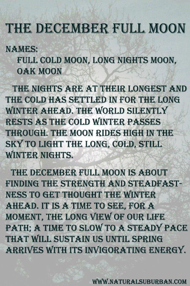 Moon:  #Full #Moon ~ December.
