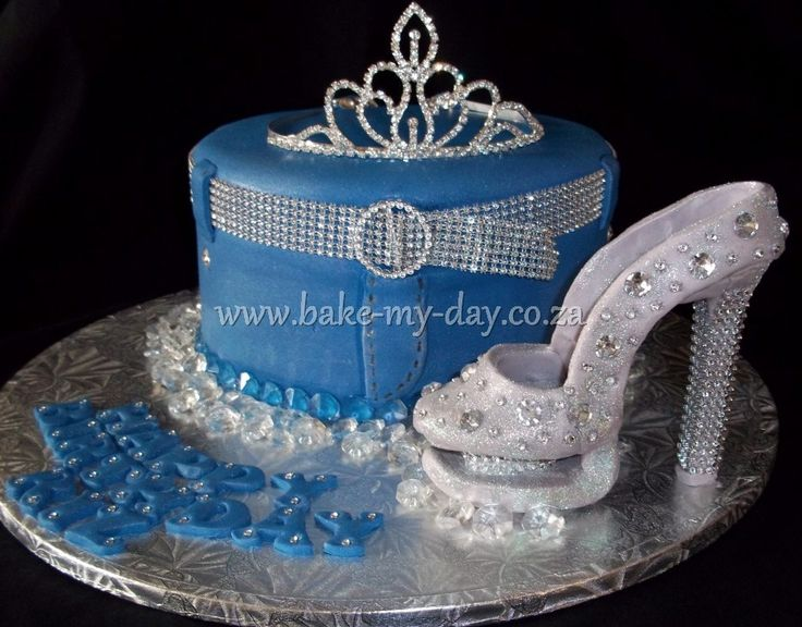 Diamond Wedding Theme Party Cake Neil 21st Birthday Cakes 50th Ideas Denim And