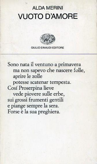 ALDA MERINI - poet...