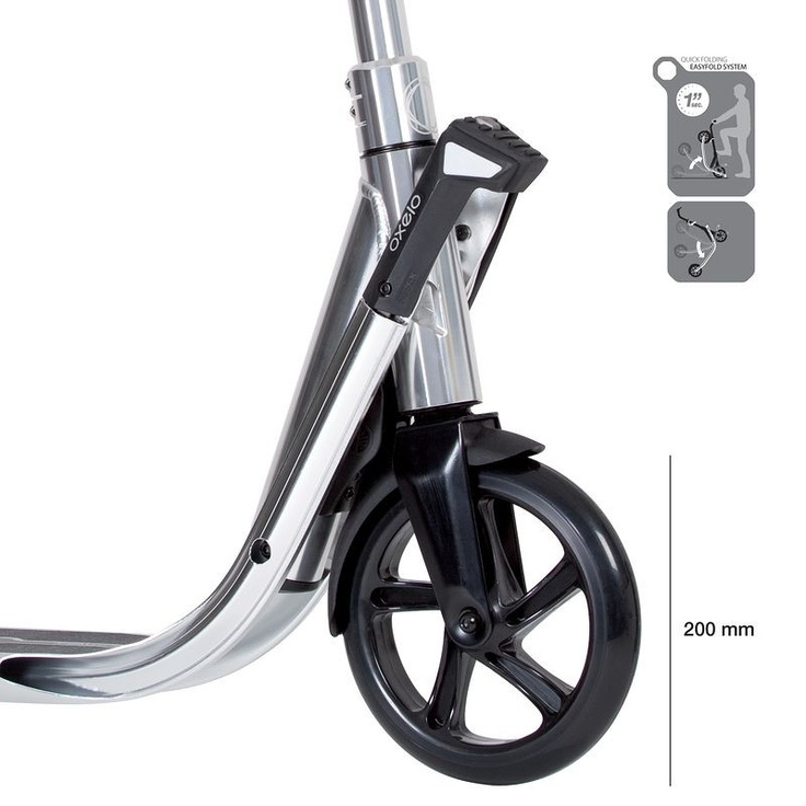 Trottinette Town 7 Ef Chrome Decathlon Trottinette