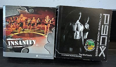 P90X DVD Set & Beachbody Insanity DVD Lot Extreme Home Fitness Workout
