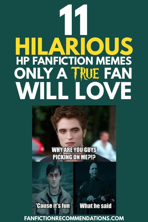 11 Hilarious Harry Potter Fanfiction Memes Only a True Fan