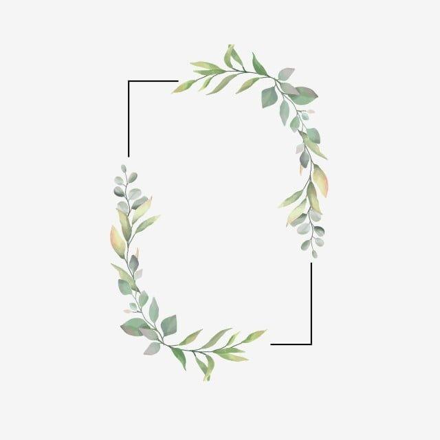 Leaf Frame For Wedding Invitations Frame Leaf Green Png And Vector With Transparent Background For Free Download In 2020 Invitation Frames Wedding Frames Flower Frame