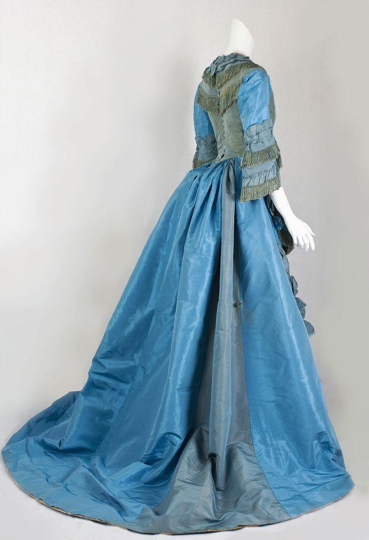 Silk taffeta two-piece day gown, c.1868