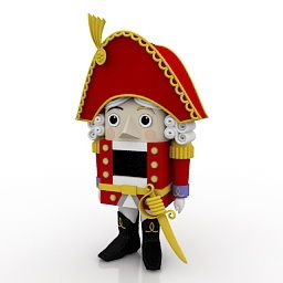 He's kinda cute, don'tcha think? Nutcracker toy model.