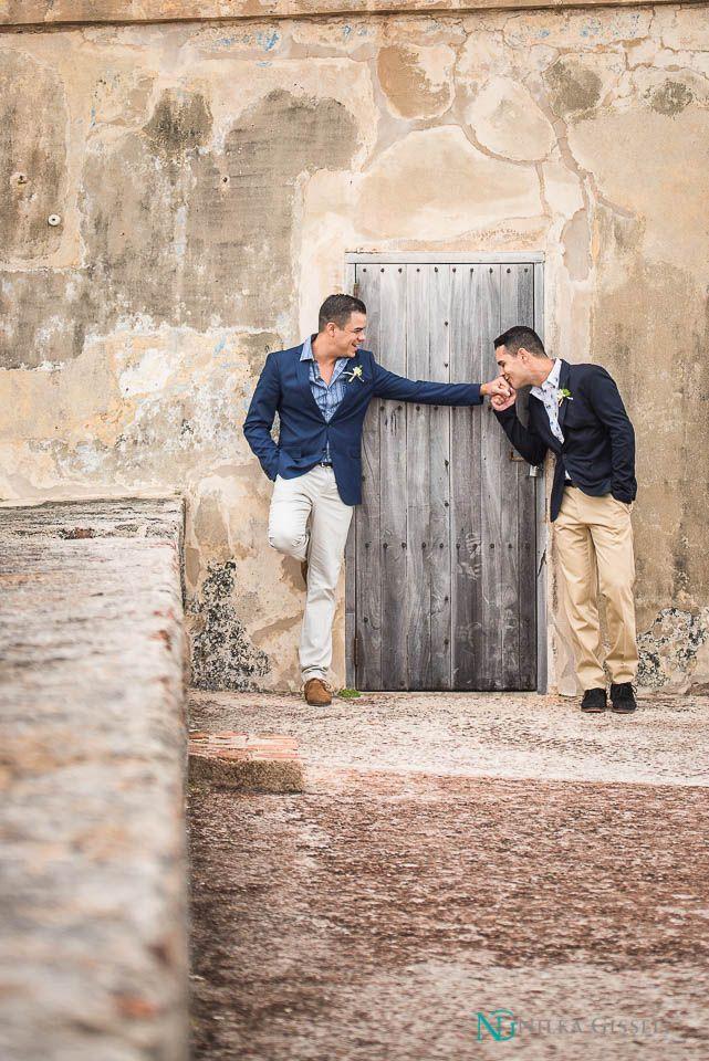 Elegant Puerto Rico Gay Wedding Elopment At Old San Juan