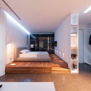 Minimalistic bedroom in a beautiful home by Japanese architect Artect Desgin. See the rest in the article #japanesearchitecture #minimalism #homify