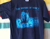 Vintage 80's OG Sisters Of Mercy Tour Concert Shirt