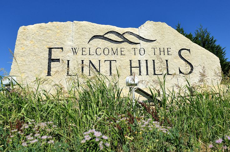 These native stone monuments have been installed along the interstates at each corner of the Flint Hills, by Ted Lee Eubanks.