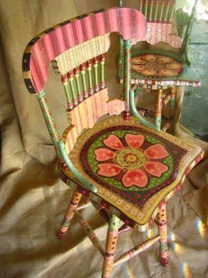 Sweet Gypsy: Gypsy Inspired Painted Furniture. Painted Wooden ChairsWood ...
