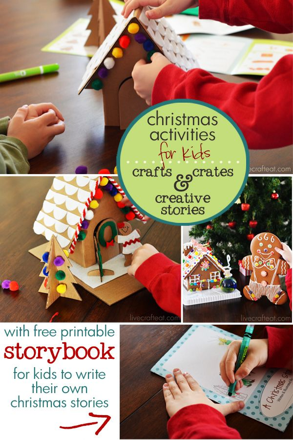 christmas activities for kids ...free printable book for your kids to author and illustrate their own holiday adventures! *great ways to create holiday memories with your family.