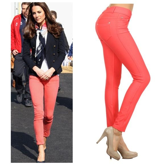25+ Best Ideas About Coral Skinny Jeans On Pinterest