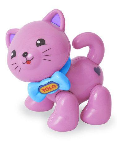 Loving this Purple Kitten Teething Toy on #zulily! #zulilyfinds