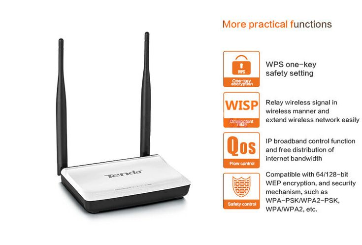Original Tenda N300 English Firmware Version 300Mbps Wireless WIFI Router