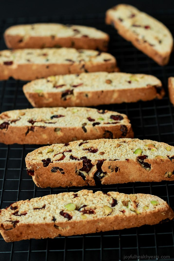 This Cranberry Pistachio Biscotti is your coffees new best friend, its sweet salty and perfect for the holidays. | www.joyfulhealthyeats.com