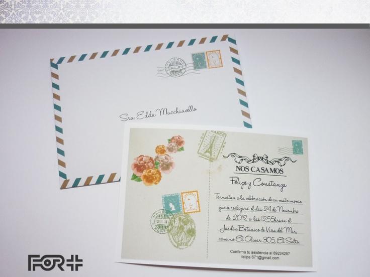 Parte de Matrimonio tipo postal