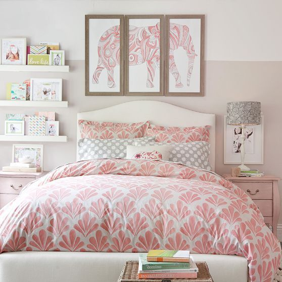 the graceful arch of our camelback headboard contrasts with its bold nailhead trim nailing down your style in no uncertain terms - Floral Duvet Covers