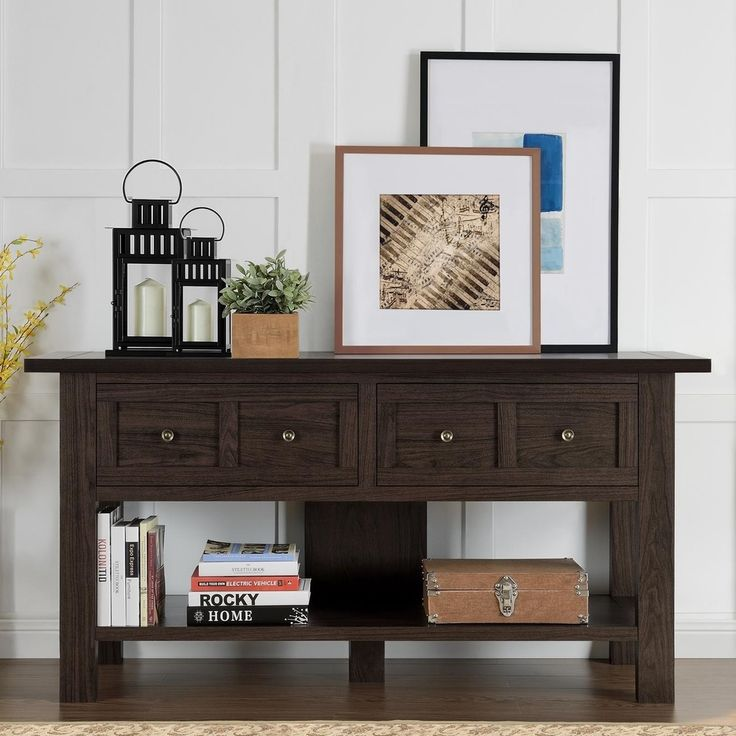 apothecary 55 inch tv stand console table overstock shopping great deals on