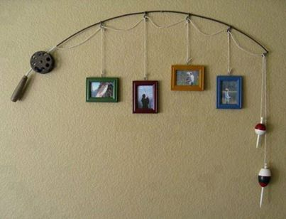 Make this picture display to cherish your fishing memories for a lifetime. Visit Check's Antiques for antique fishing poles and lures to make your picture display one of a kind.
