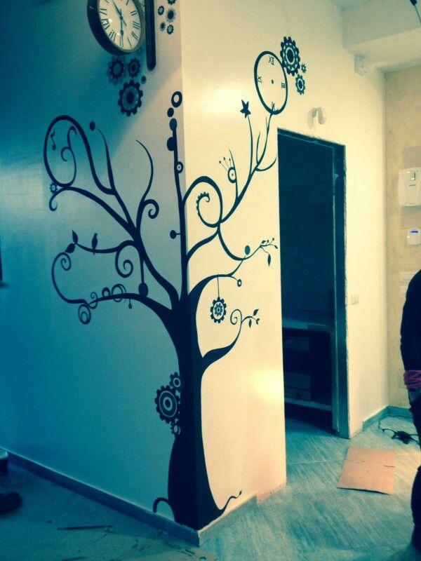 7 best disegni su muro images on pinterest | balconies and green - Disegni Su Pareti Soggiorno 2