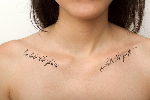 Inhale/ Exhale Temporary Tattoo Quote Set of 2 by Tattify on Etsy $5.00