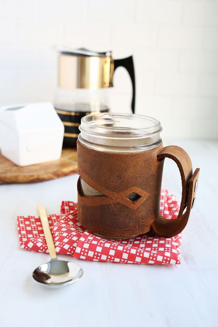 He may think he's seen the coolest koozie ever, but it doesn't even come close to this classy-looking leather version. Not to mention it's the easiest way to turn him into a mason-jar lover for all his favorite summer drinks.  Get the tutorial at A Beautiful Mess.      - Redbook.com