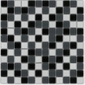 britto 12 x 12 elite charcoal glass wall tile 2632 i don glas mosaik fliese backsplashmosaikglaskchen - Schwarzweimosaikfliese Backsplash