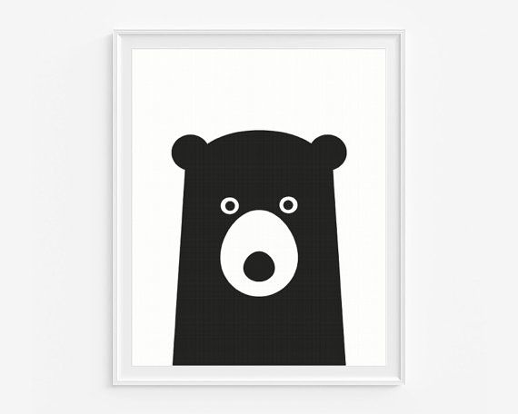 Nursery Poster Black And White Kids Wall Art Print Ap 020 Njummies Pinterest Giclee Playhouses Room Decor