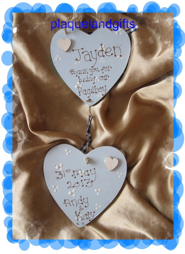 Pageboy usher  personalised handmade gift keepsake wedding £7.95
