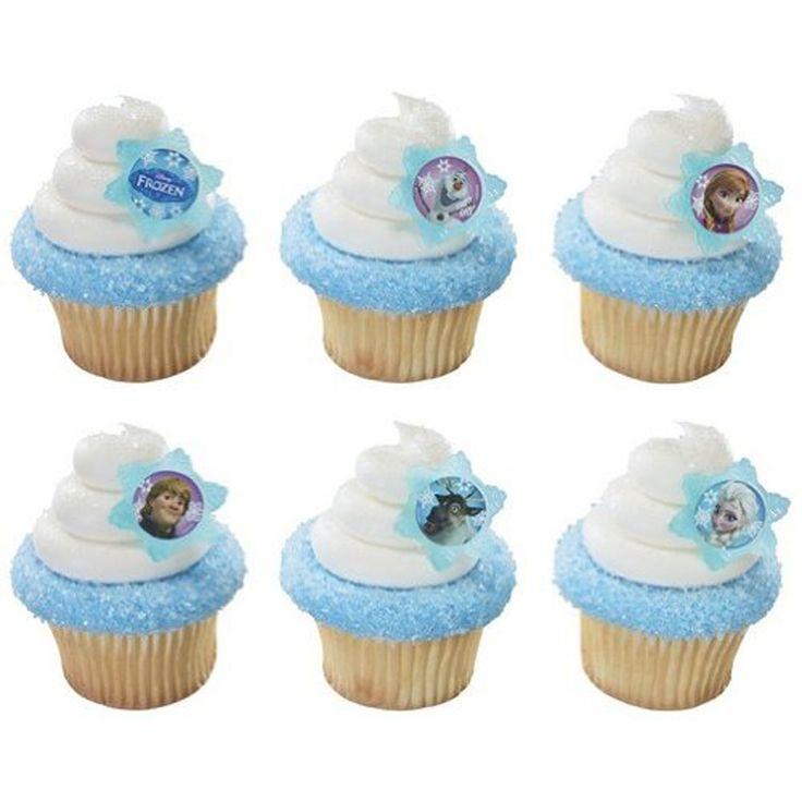 Cupcake Favor Rings - Disney Frozen (24)