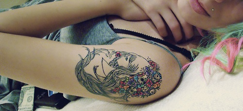 lovelyGorgeous Tattoo, Tattoo Ideas, Girls Generation, Art, A Tattoo, Face Tattoo, Beautiful Tattoo, Flower, Ink