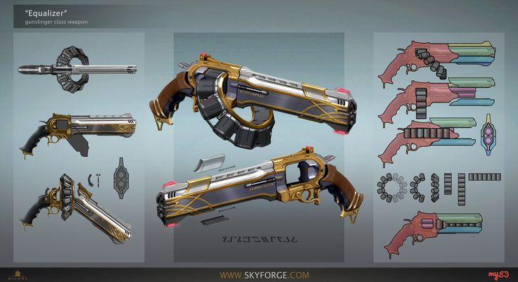ArtStation - Gunslinger's pistols, Grigory Lebidko