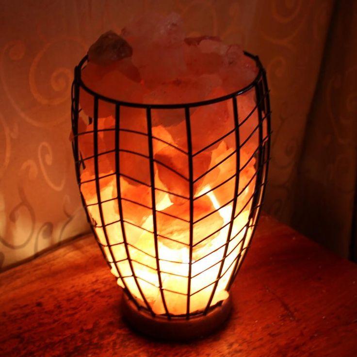 fire cage -Himalayan salt lamp