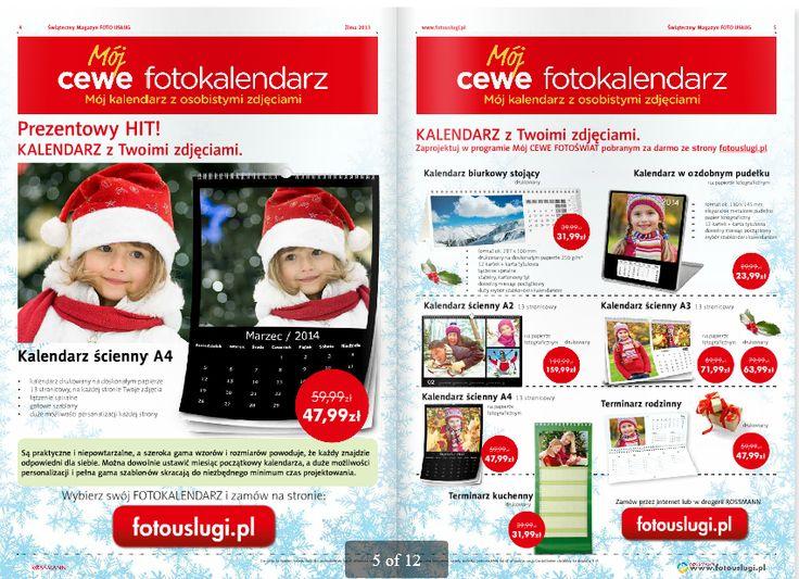 Kalendarz na nowy rok - tylko z rodziną w tle! A że rodzina dobrze wypada na zdjęciu, to warto wpaść do Rossmanna po fotokalendarz. http://www.promocyjni.pl/gazetki/12351-swiateczne-inspiracje-gazetka-promocyjna
