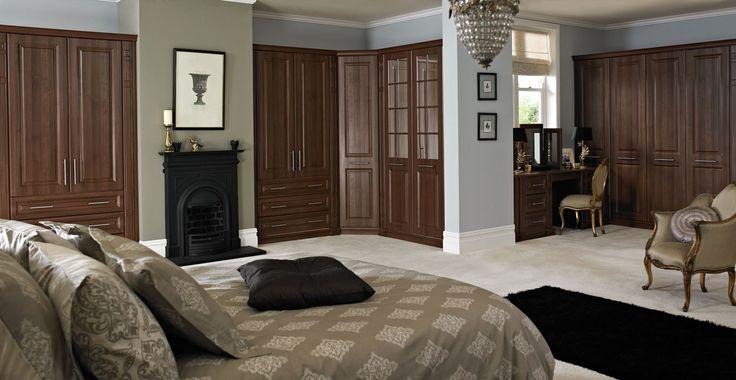 Portafino Walnut Bedroom to present a traditional design #interior #bedroom #walnut #design