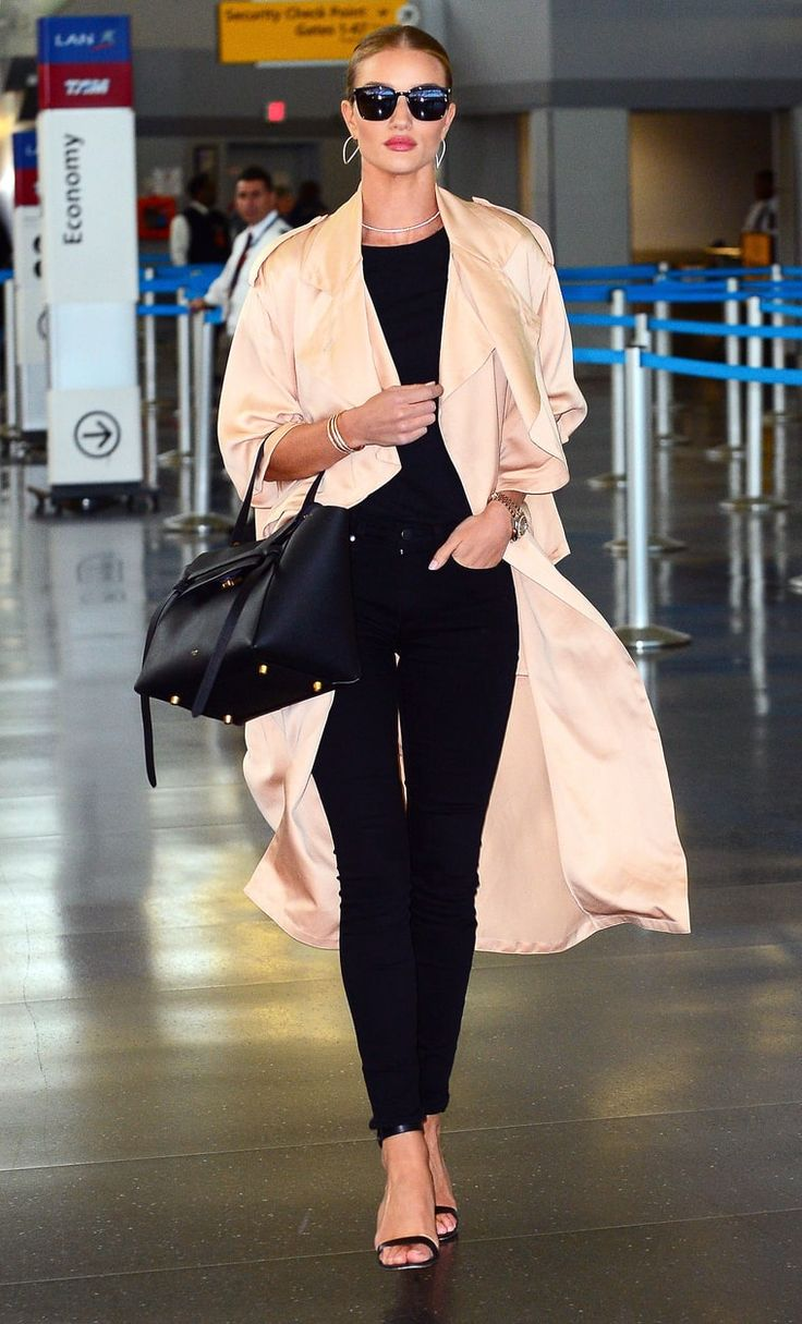 Rosie Huntington-Whitely at JFK