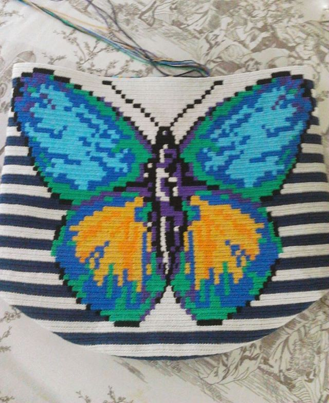 Bitiyo mu ne !.... #tapestrycrochetbags#wayuumochila#butterfly#wayuu#plysplit#kelebek#handmadewithlovejustforyou