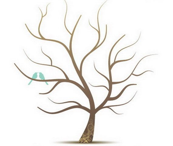 Family Tree Template No Leaves Family tree craft template