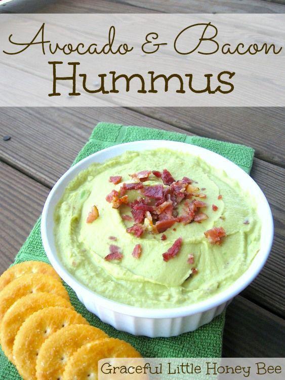 This avocado and bacon hummus is full of creamy, healthy flavor!  #PutItOnARitz #ad
